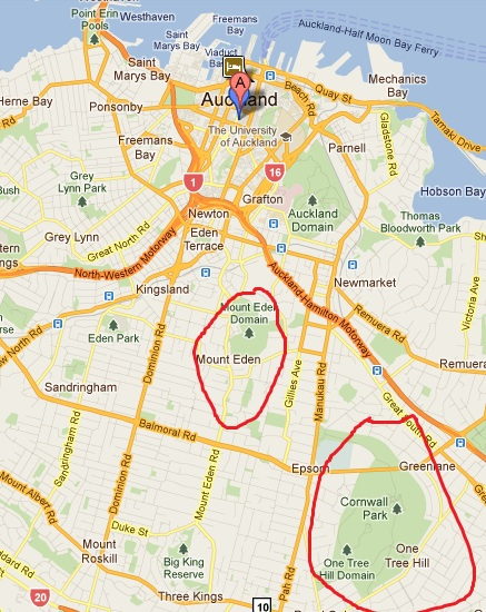 The greenery of auckland the missing year for Eden hill walk in
